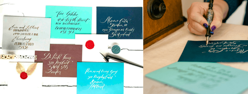 Bespoke commisions for envelope calligraphy