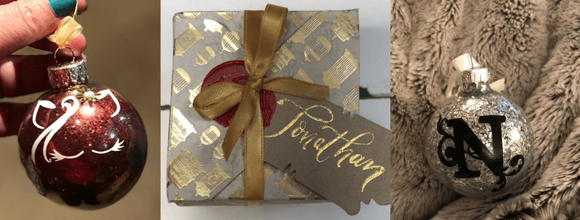Personalised baubles and custom packaging by The British Quill